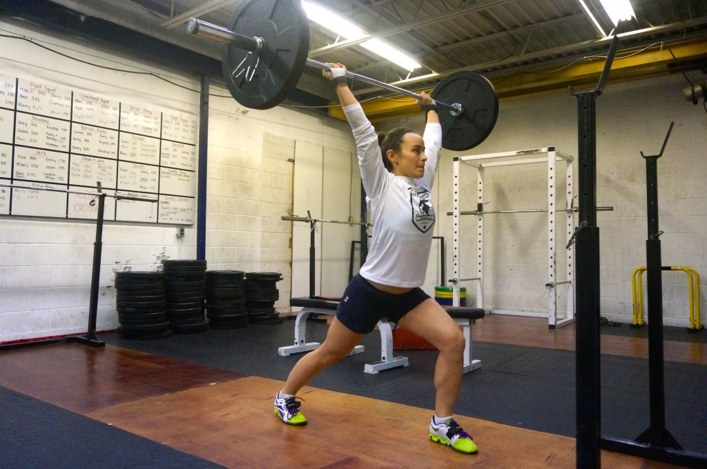Diana Tebby Weightlifting Split Jerk